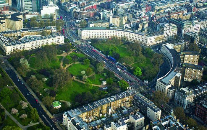 Regents Crescent aerial